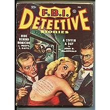 FBI DETECTIVE-02/1949-POPULAR-HARD BOILED-PULP-DETECTIVE-MACDONALD-TATTOO-vg/fn