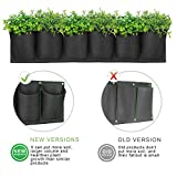 ANGTUO Hanging Garden Planter with 6 Pockets, New