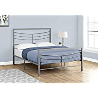 Monarch Specialties I 2636F Bed Size Metal Frame Only, Full, Black