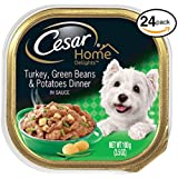 Cesar Home Delights Wet Dog Food Turkey, Green Beans & Potatoes Dinner, (Pack Of 24) 3.5 Oz. Trays