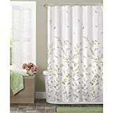 Maytex Dragonfly Garden Semi Sheer Fabric Shower Curtain