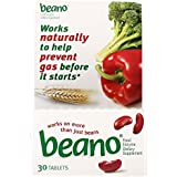 Beano Food Enzyme Dietary Supplement, 30 Tablets