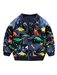 HARVEY JIA Baby Boys Outerwear Jakect Lightweight Soft Windproof Dinosaur Coat