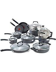 T-fal C770SI Signature Hard Anodized Scratch Resistant PFOA Free Nonstick Thermo-Spot Heat Indicator Cookware...