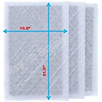 Ray Air Supply 12x24 MicroPower Guard Air Cleaner Replacement Filter Pads (3 Pack) WHITE