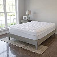 VirtueValue Twin Mattress Pad with Fitted Skirt