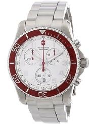 Victorinox Swiss Army Mens 241434 Maverick GS Silver Chronograph Dial Watch