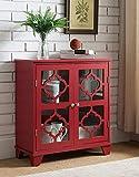 Kings Brand Furniture Red Finish Wood Buffet