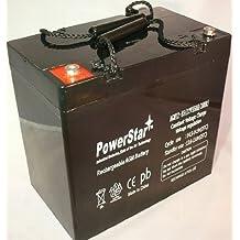 PowerStar AGM12-55-ins-15 12 Volt 12V 50 Amp 50Ah VRLA AGM Sealed Lead Acid Battery 50 AMPS
