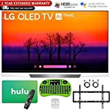 LG 65 E8 OLED 4K HDR AI Smart TV (2018 Model) with $100 Hulu card + 1 Year Extended Warranty + Wall Mount Kit and More - OLED65E8