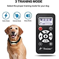 A+Tainer 800 Yards Range Remote Dog Training Collar,(5 Years Warranty) Rechargeable and Waterproof Dog Shock Collar with Beep, Vibration and Shock Dog Collar for Small, Medium and Large Dogs
