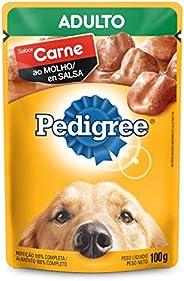 Ração Úmida Pedigree Sachê Carne ao Molho para Cães Adultos 100 g Pedigree para Todas Todos os tamanhos de raç