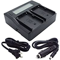 Sony BC-U2 Replacement Dual Channel Battery Charger with LCD Display for BP-U30, BP-U60, and BP-U90 Camcorder Batteries