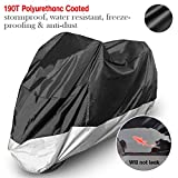Motorcycle Cover Scooters Garage Tarpaulin Raincover Protective Cover Faltgarage Motorcycle tarp dustproof 190T 265 105 125cm XXL