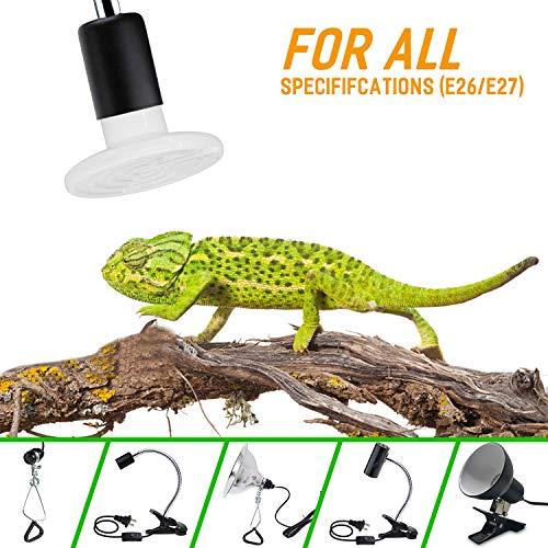 iLOVE Ceramic Heat Emitter 150W 2 Pack, Reptile Heat Lamp Bulbs for Lizard Turtle Snake Amphibian Pet, No Light Emitted Brooder Coop Heater