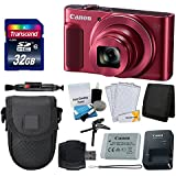 Canon PowerShot SX620 HS Digital Camera (Red) + Transcend 32GB Memory Card + Point & Shoot Camera Case + Card Reader + Card Wallet + Cleaning Kit + Screen Protectors + Hand Grip + Deluxe Accessory Kit