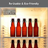 Home Bru 12 oz Grolsch-Style Swing Top Beer Bottles / Glass Flip Top Home Brewing Bottles