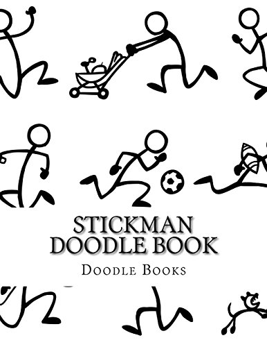 Stickman Doodle Book (8.5 x 11 Stickman Sketchbook, Drawing Pad) (Volume 1) [Books, Doodle] (Tapa Blanda)