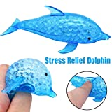 Diadia Squeeze Toy Squishy Toy Water Beads Rainbow Mix Novelty Bead Stress Ball Sticky Squeeze Frogs Squeezing Stress Relief Toy Non-Toxic Growing Balls Orbies Ice Jelly Water Gel (Dolphin B)
