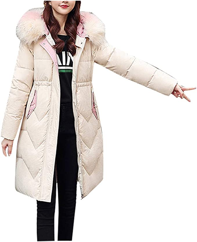Giacche Donna Inverno Cappotti con cappuccio per donna pezzo di tessuto di poliestere con zip casual