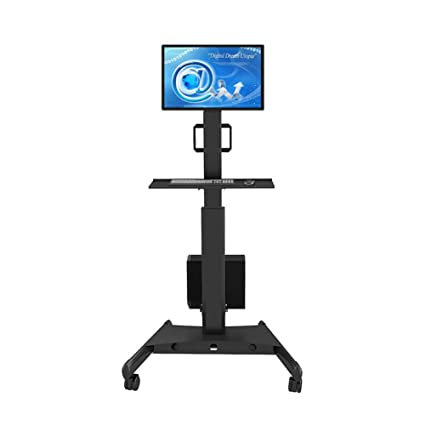 Amazon Com Exing Movable Tv Stand Cart Computer Monitor