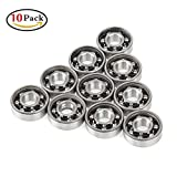 Holody FID-10 Fidget Spinner Bearings Set, Holody 10 PCS 608 Ball Center Replacement Parts Bearings Kit, Spin 3 Minutes