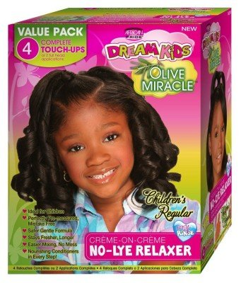 African Pride Dream Kids Olive Miracle Touch-Up Relaxer Regular Value Pack by African Pride