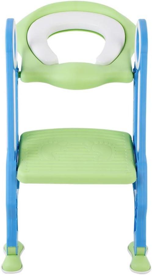 Blau+Gr/ün Toilettenaufsatz Kinder Toilettentrainer T/öpfchenstuhl Universal Passend mit verstellbar Treppe Leiter weicher Sitz-Design Klappbar Rutschfest ab 1 Jahre T/öpfchentrainer
