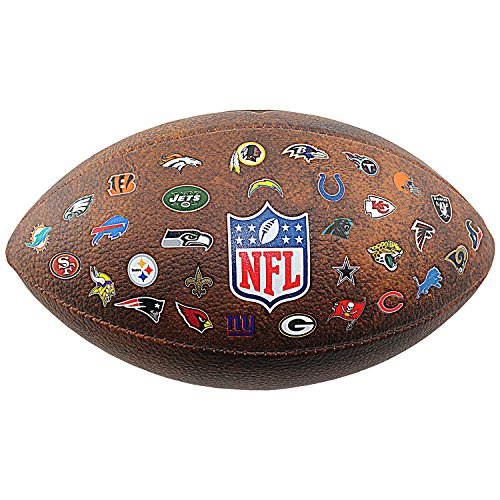 Wilson Nfl Game Logo Football (NFL All Team Logo Junior Football, 11-inches)