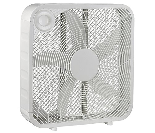 20 inch White Box High Velocity Fan with 3 Setting Speeds Air Flow - Smart & Energy Efficient (Box Fan High Velocity compare prices)