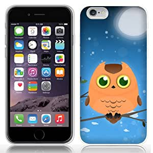 Case Fun Orange Owl by DevilleART TPU Rubber Back Case Cover for Apple iPhone 6 (4.7 inch)
