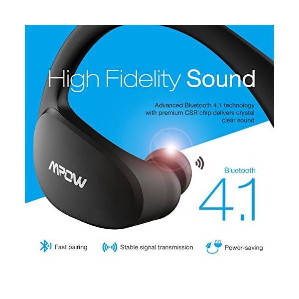 f18882bb7ea Mpow Cheetah Bluetooth Headphones, Sport Wireless Earbuds w/Aptx Sound,  IPX5 Waterproof&8 Hrs Playtime, V4.1 Wireless Sport Headphones, Behind-Ear  Running ...