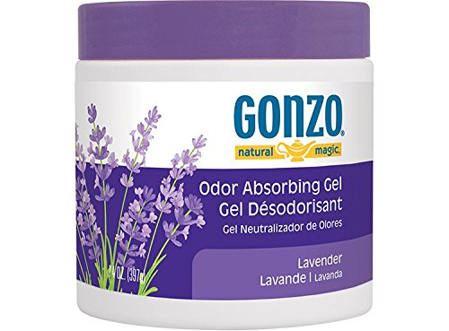 Gonzo Natural Magic Lavender Fragrance Gel - Absorbs and Eliminates Odors in Your Home - 14 Oz.