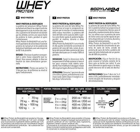 Bodylab24 Proteína Whey 1kg | Proteína de suero en polvo para ...