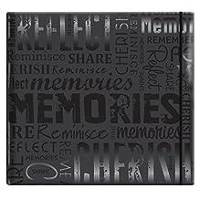 "MCS MBI by Embossed ""Memories"" Gloss Expressions Top Load Scrapbook, Black"