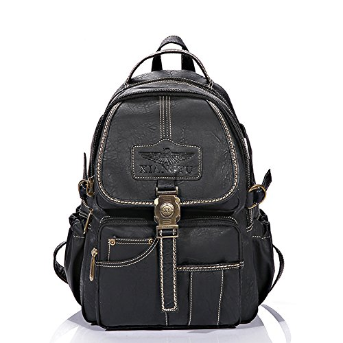 Yaoko Women Fashion college school bag travel backpack (Black) by Yaoko