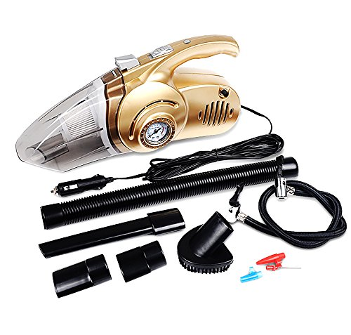 YLG Car Vacuum Cleaner,Tire Inflatable,Air Pump,Wet And Dry,120W 12V 4.5 Meters Power Cord by YLG