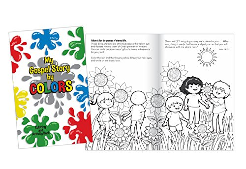 My Gospel Stories in Color 16 Page Children's Coloring Book Pack of 4