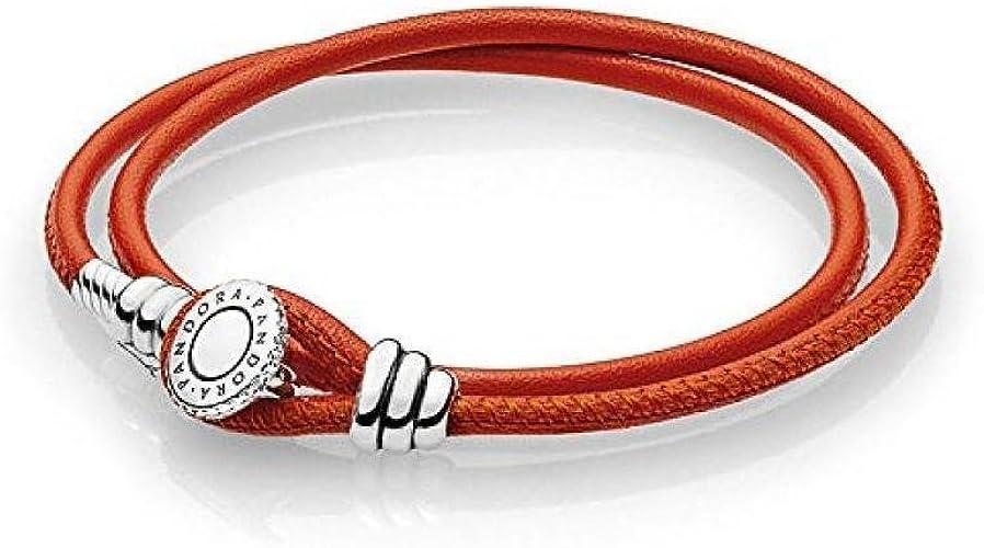 Bracelet Pandora Unisexe 597194 cso-d2 cuir: Amazon.fr: Bijoux
