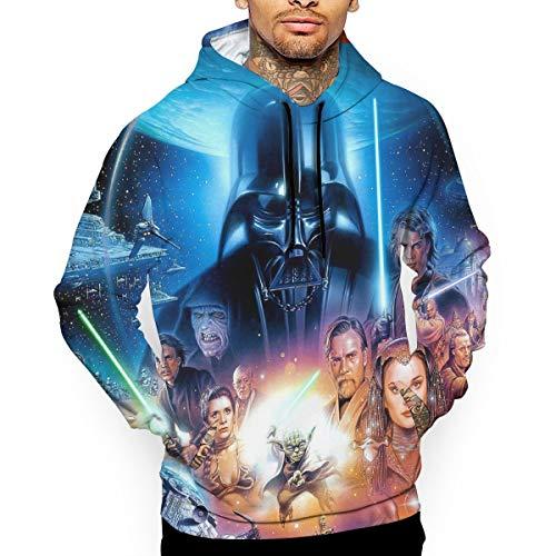 BOKAIKAI1603 Cool S-Star Wars Men's 3D Pattern DIY Christmas Long Sleeve Top Hoodie Sports Sweatshirts Adult Fleeces with Cap]()