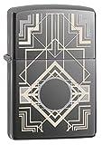 Zippo Geometric Pocket Lighter, Black Ice