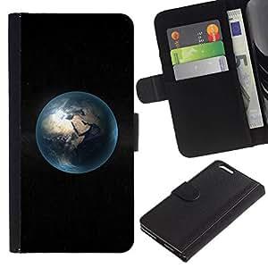All Phone Most Case / Oferta Especial Cáscara Funda de cuero Monedero Cubierta de proteccion Caso / Wallet Case for Apple Iphone 6 PLUS 5.5 // Space Planet Minimalist Bubble