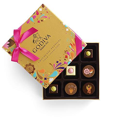 Godiva Chocolatier Chocolate Festival Gift Box, Chocolate Assortment, Gourmet Chocolate, Chocolate Gifts, 9 pc, 4 -