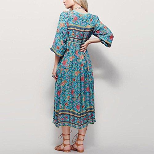 ZahuihuiM FrauenArt und WeisesommerBöhmisches Langes Maxi Kleid ...