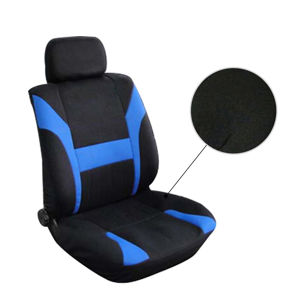 SCITOO Universal Black//Blue Car Seat Cover w//Headrest Polyester Seat Cushion 8pcs