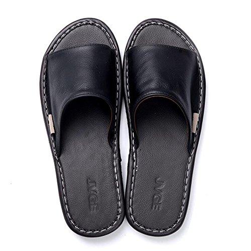 Domestico SHANGXIAN Sandali 43 44 Antiscivolo Donne Estate Uomini Infradito Pelle E Pantofola Traspirante H nSqSTRCYf