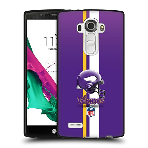 - Official NFL Helmet Minnesota Vikings Logo Black Soft Gel Case for LG G4 / H815 / H810
