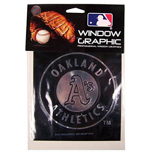 Rico MLB Athletics Oakland Window Graphic Sticker, 9