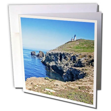 3dRose Boehm Photography Travel - Anacapa Island View - 12 Greeting Cards with Envelopes (gc_282340_2)