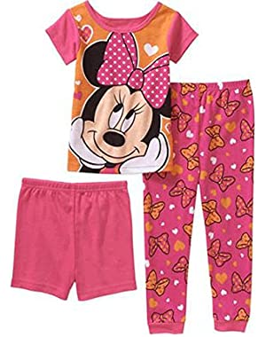 Minnie Mouse 3pc Pajamas Set Little Girls' Toddler